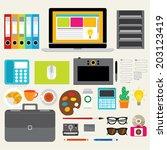 creative design elements of... | Shutterstock .eps vector #203123419