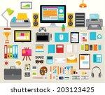 creative design elements of... | Shutterstock .eps vector #203123425