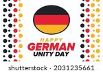 german unity day. celebrated... | Shutterstock .eps vector #2031235661