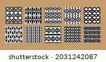 ethnic seamless patterns set.... | Shutterstock .eps vector #2031242087