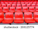 Red Seats At The Stadium
