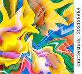 fantastic abstract fractal... | Shutterstock . vector #203128684
