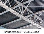 ceiling fragment of metal roof...   Shutterstock . vector #203128855