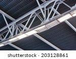 ceiling fragment of metal roof...   Shutterstock . vector #203128861