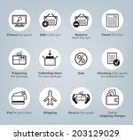 set of vector shopping online... | Shutterstock .eps vector #203129029