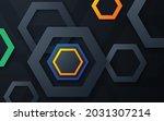 modern polygon shape dimension... | Shutterstock .eps vector #2031307214