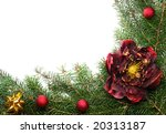 christmas decoration on white...   Shutterstock . vector #20313187