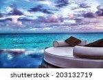 luxury beach resort  beautiful...   Shutterstock . vector #203132719