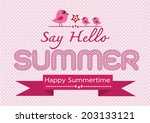 summer concept  idea design card | Shutterstock .eps vector #203133121