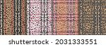 leopard  check and stripe... | Shutterstock .eps vector #2031333551
