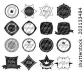 retro vintage badges and labels ... | Shutterstock .eps vector #203133484