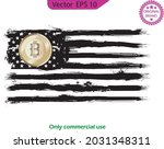 usa flag designed with bitcoin... | Shutterstock .eps vector #2031348311