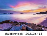 sunset over the ocean in hong... | Shutterstock . vector #203136415