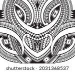 polynesian ornament tattoo... | Shutterstock .eps vector #2031368537