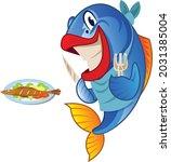 fish eating fish cartoon vector ...   Shutterstock .eps vector #2031385004