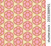70's retro seamless pattern.... | Shutterstock .eps vector #2031388901