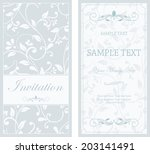 set of antique greeting cards ... | Shutterstock .eps vector #203141491