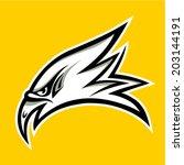 eagle head tattoo design  ...   Shutterstock .eps vector #203144191