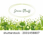 green goods  fresh vegetables ... | Shutterstock .eps vector #2031458807