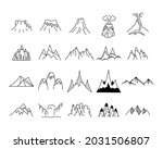 simple mountains icons shapes... | Shutterstock . vector #2031506807