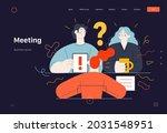 business topics   meeting  web...   Shutterstock .eps vector #2031548951