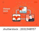 business topics   distant work  ...   Shutterstock .eps vector #2031548957