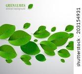 green leaves background | Shutterstock .eps vector #203154931