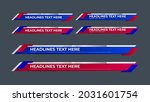 lower third collection with red ... | Shutterstock .eps vector #2031601754
