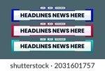 headlines news video lower...   Shutterstock .eps vector #2031601757