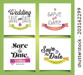 vector illustration. wedding... | Shutterstock .eps vector #203162299