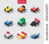 mini vehicles  building block... | Shutterstock .eps vector #2031653057