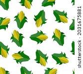 fresh corn seamless pattern....   Shutterstock .eps vector #2031675881
