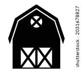 vector barn glyph icon design   | Shutterstock .eps vector #2031678827