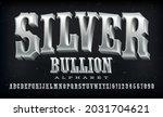 silver bullion western style...   Shutterstock .eps vector #2031704621