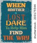 retro vintage motivational... | Shutterstock .eps vector #203175544
