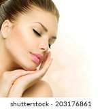 beauty spa woman portrait.... | Shutterstock . vector #203176861