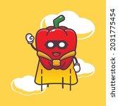 cute paprika super hero....   Shutterstock .eps vector #2031775454