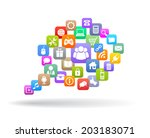 web icons speech bubble | Shutterstock .eps vector #203183071