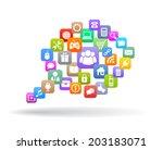 web icons speech bubble | Shutterstock .eps vector #203183071