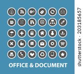 office  document  business... | Shutterstock .eps vector #203185657