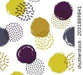 memphis circles seamless fabric ... | Shutterstock .eps vector #2031889841