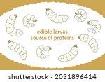 illustration set of edible... | Shutterstock .eps vector #2031896414