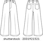 vector fashion cad illustration ... | Shutterstock .eps vector #2031921521