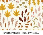 seamless pattern of autumn...   Shutterstock .eps vector #2031943367