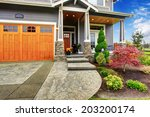 luxury house entrance porch... | Shutterstock . vector #203200174