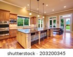 Spacious Kitchen Interior With...