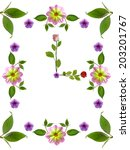 floral clock on white background | Shutterstock . vector #203201767