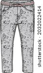 grey denim with animal print   Shutterstock .eps vector #2032022414