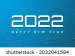 happy new year 2022 cover....   Shutterstock .eps vector #2032041584