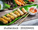 Fried Spring Rolls Surrounded...